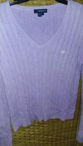 Ralph Lauren CHAPS cotton crewneck sweater size L
